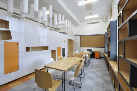 Classroom at Nowell Academy designed by Signal Works Architecture in Rhode Island